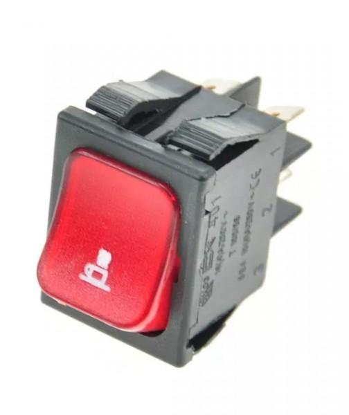 Schalter 2 Polig rot fuer Kaffee 16A 250V 0
